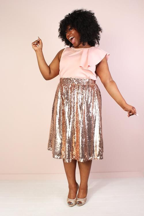 ways how to wear sequin skirt outfit 13