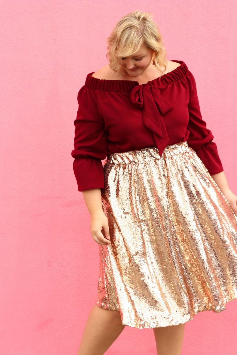 ways how to wear sequin skirt outfit 14