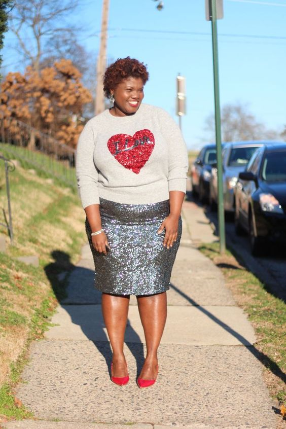 ways how to wear sequin skirt outfit 33