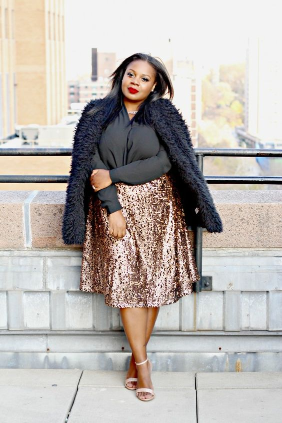 ways how to wear sequin skirt outfit 37